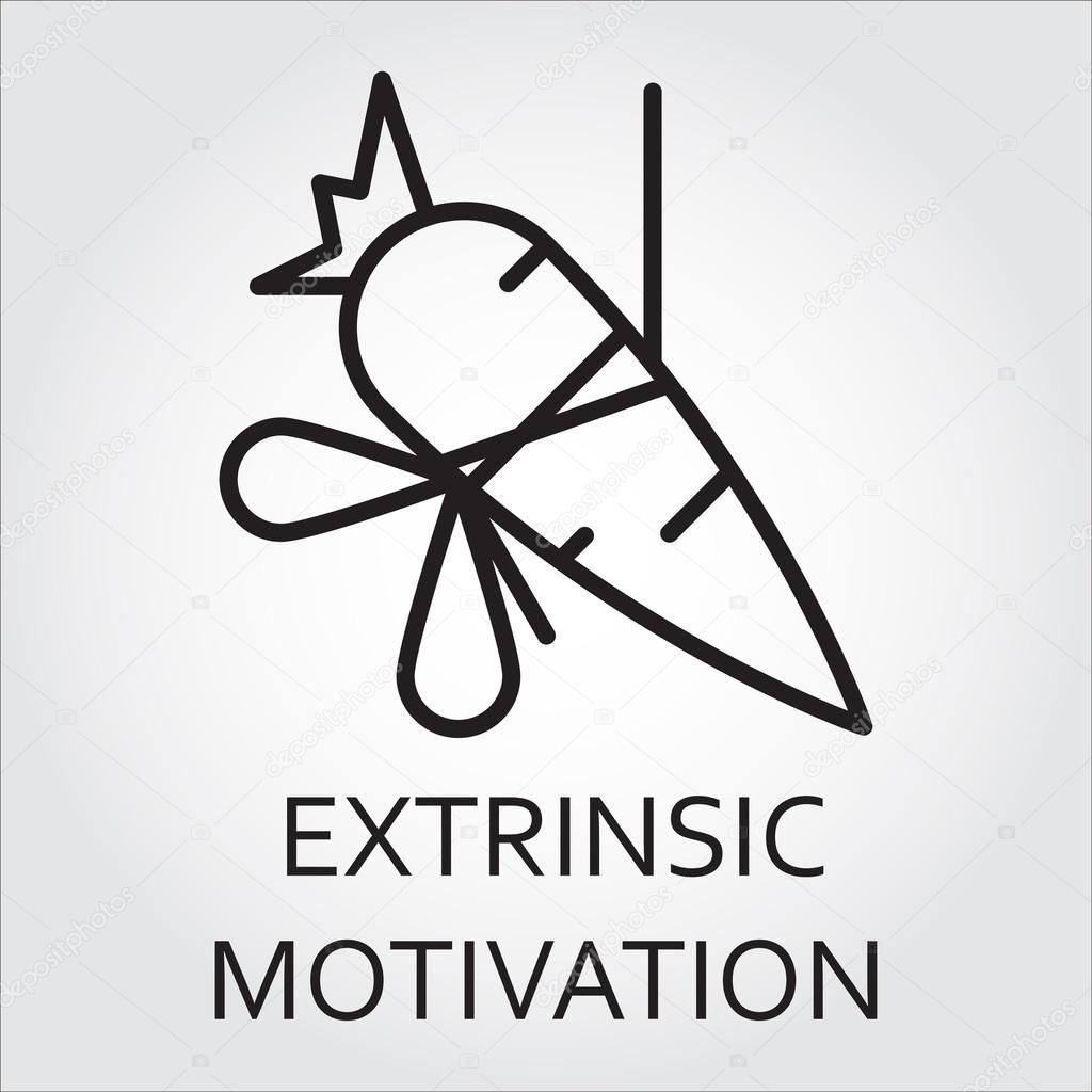 Motivação Extrínseca ícone Do Vetor Da Linha Como Cenoura Em