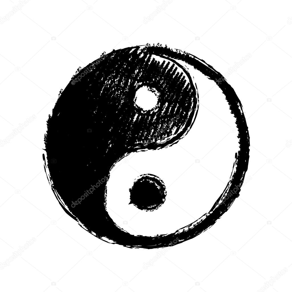 Yin Yang Symbol Drawing Stock Vector C 000000 106944224
