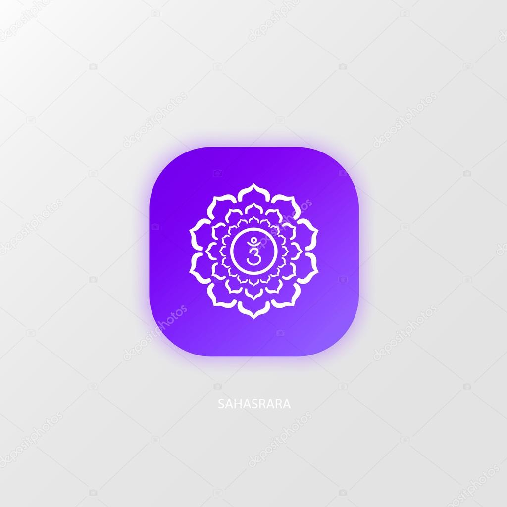Icon Magenta Sahasrara Chakra Symbol Stock Vector 000000 123009048