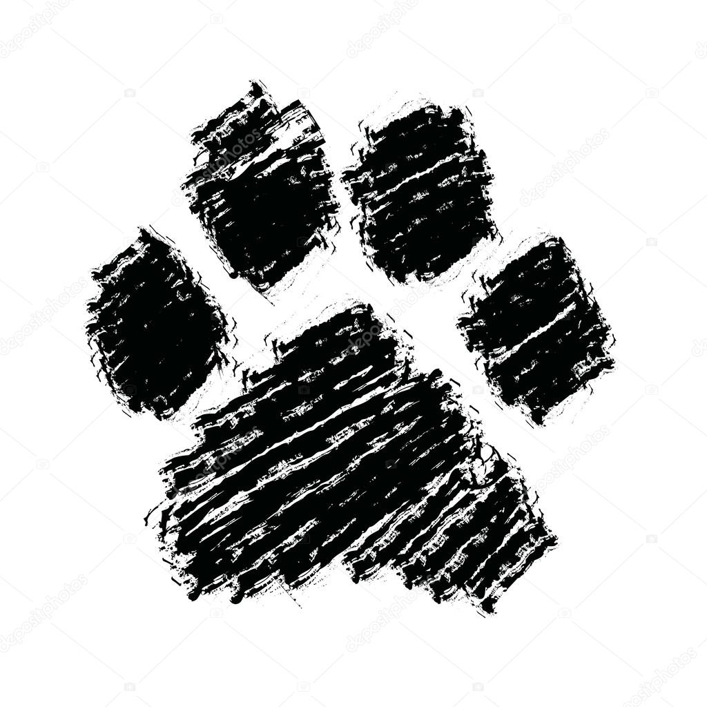 Huella Animal Dibujo Doodle Dibujado Mano De Huella Animal