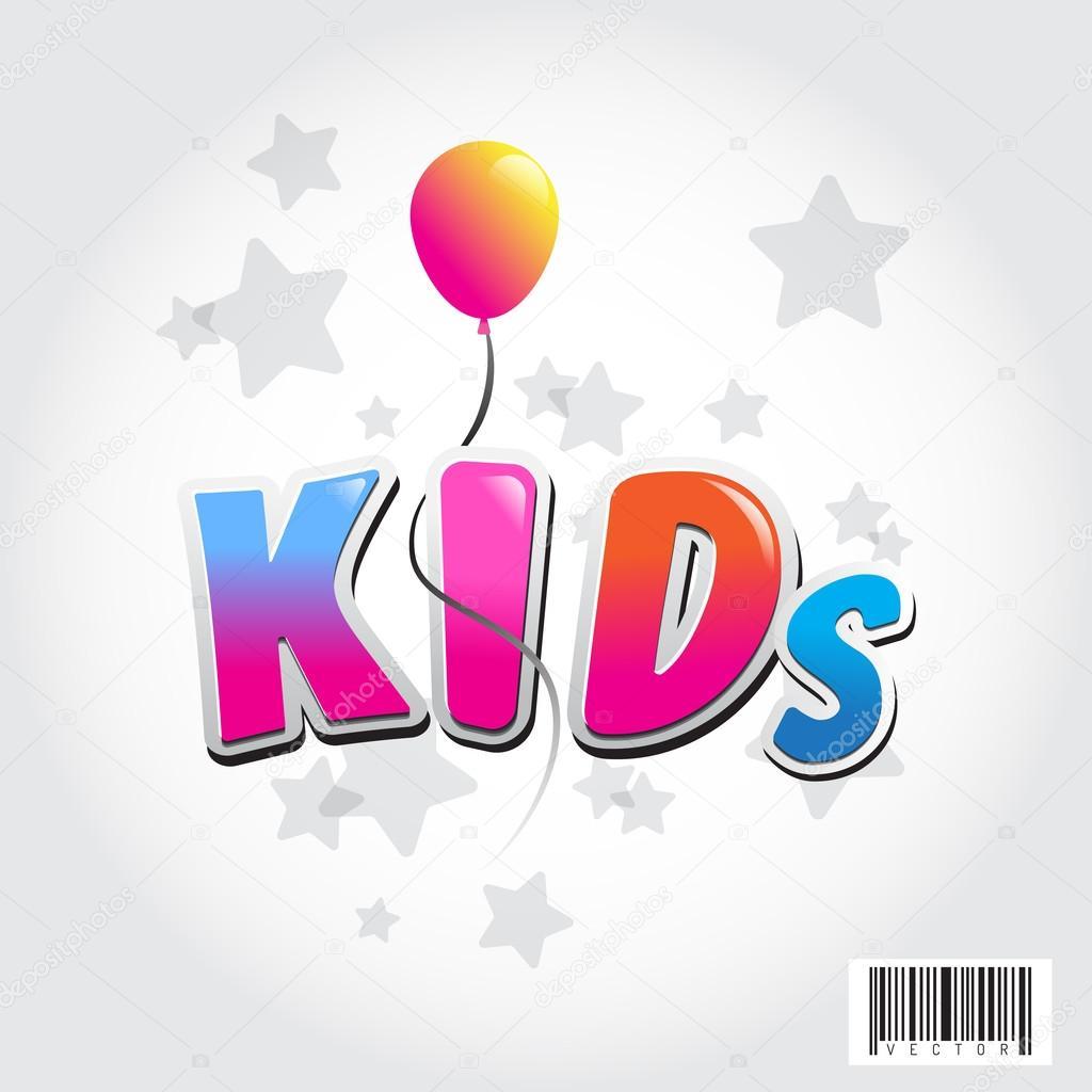 Vettore Disegno Di Bambini Con Palloncini Disegno Di Logo Del