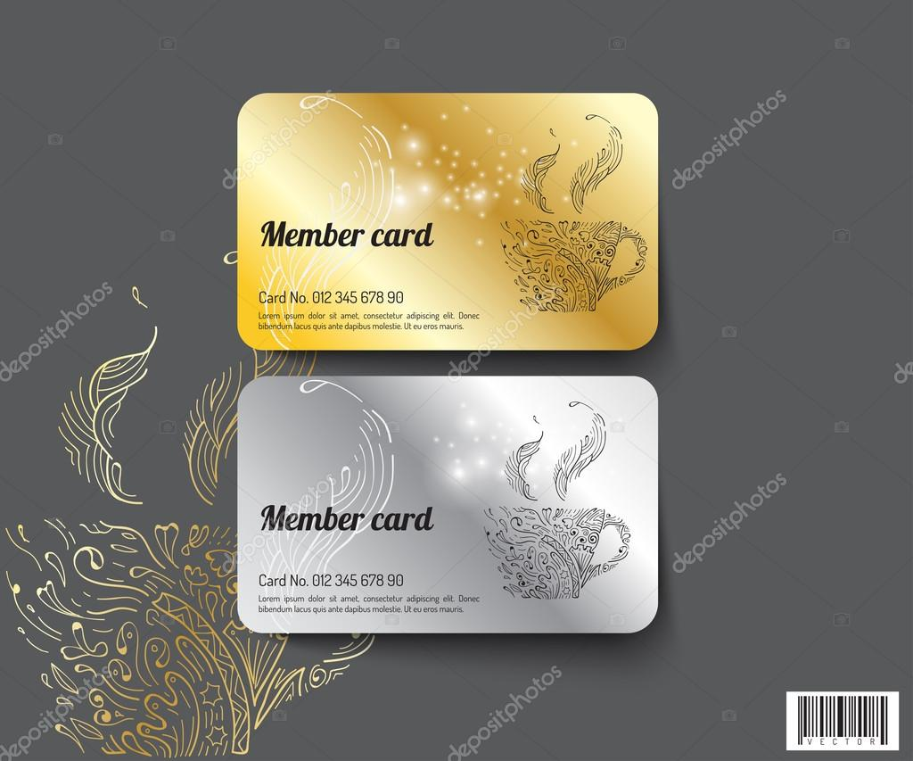 Template design member card vector file stock vector tuastock template design member card suitable use for coffee business and othersctro file vector by tuastock reheart Gallery