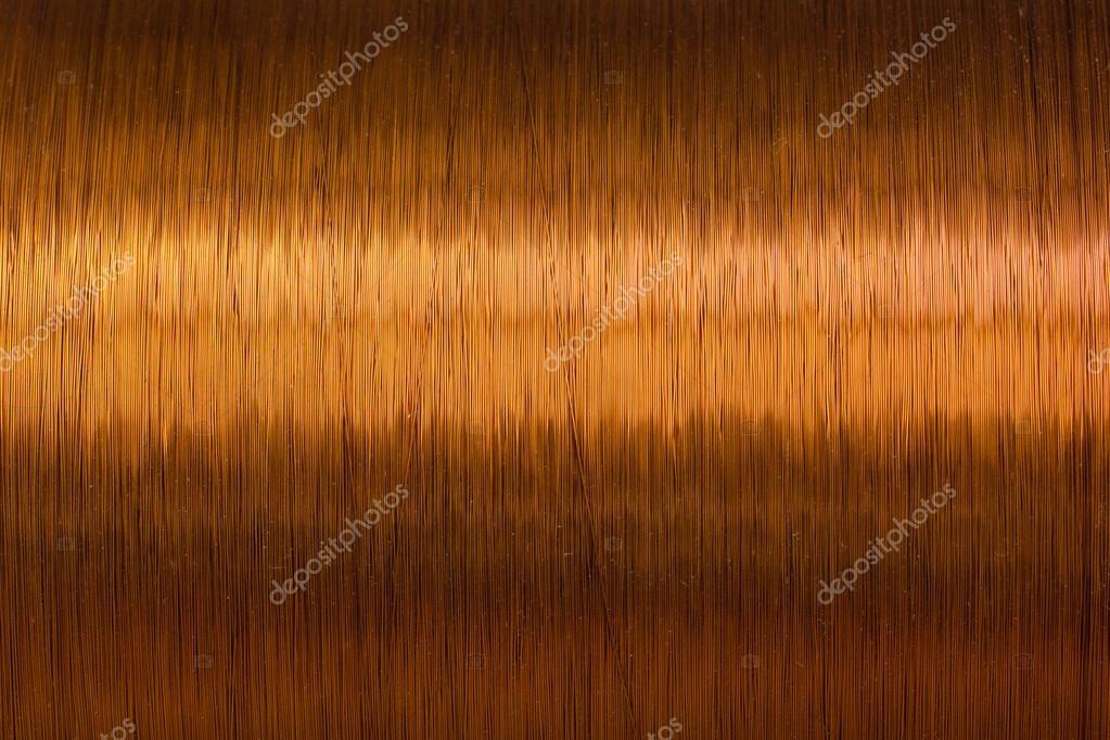 Kupferdraht Spule Textur Metall — Stockfoto © lord_photon #103108856