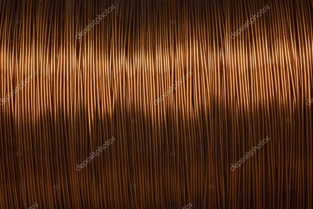 Kupferdraht Spule Textur Metall — Stockfoto © lord_photon #103108898