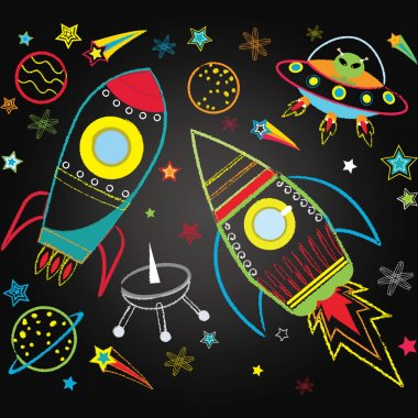 Chalkboard Outer Space Set