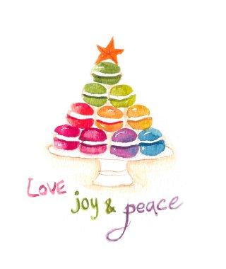 Macaroon christmas tree