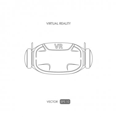 Virtual reality helmet on white background. Computer accessories
