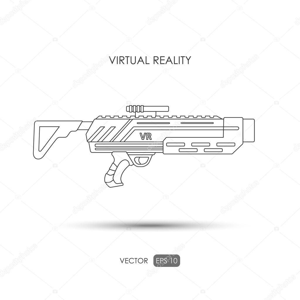 misil pistola para sistema de realidad virtual armas de