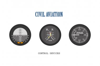 Set of aircraft instruments. Control of devices collection