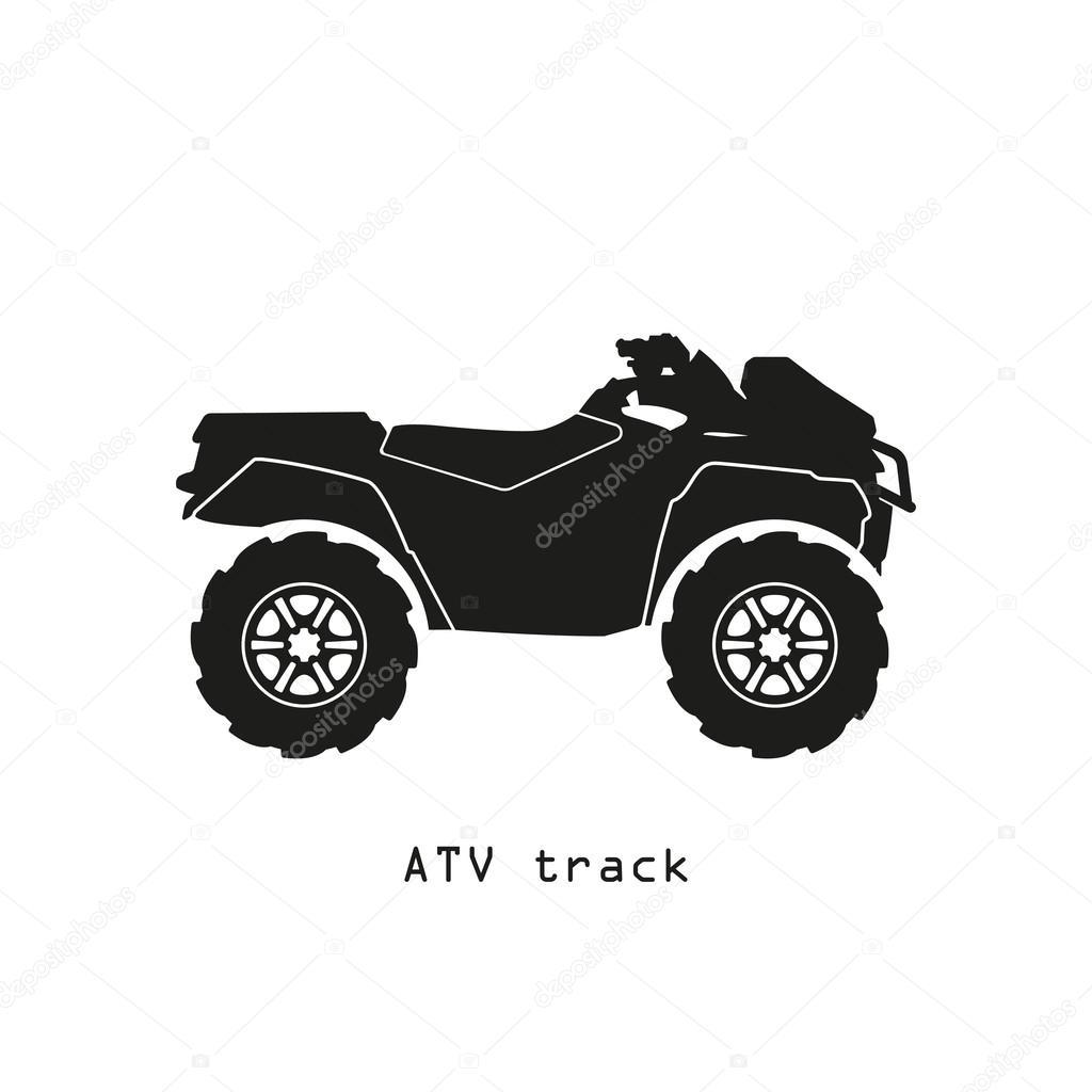 Black Atv Silhouette Black Silhouette Of Atv On A White Background Stock Vector C Shain 119899680
