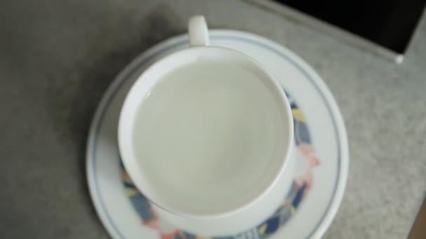 Tea bag put in a cup