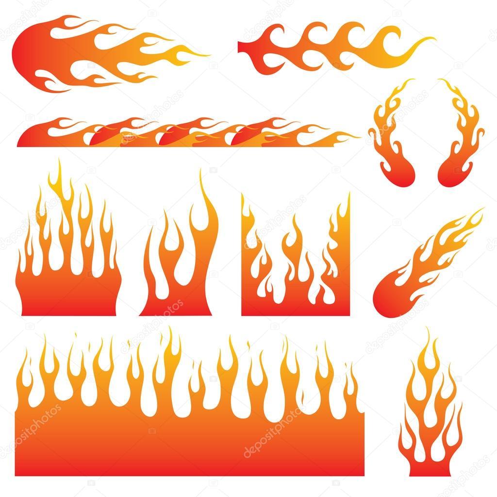 Hot Rod Flames Decals Hot Rod Flame Decals Stock Vector C Bonezboyz 81258302
