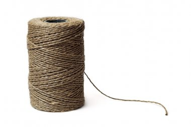 Reel of thread isolated on white