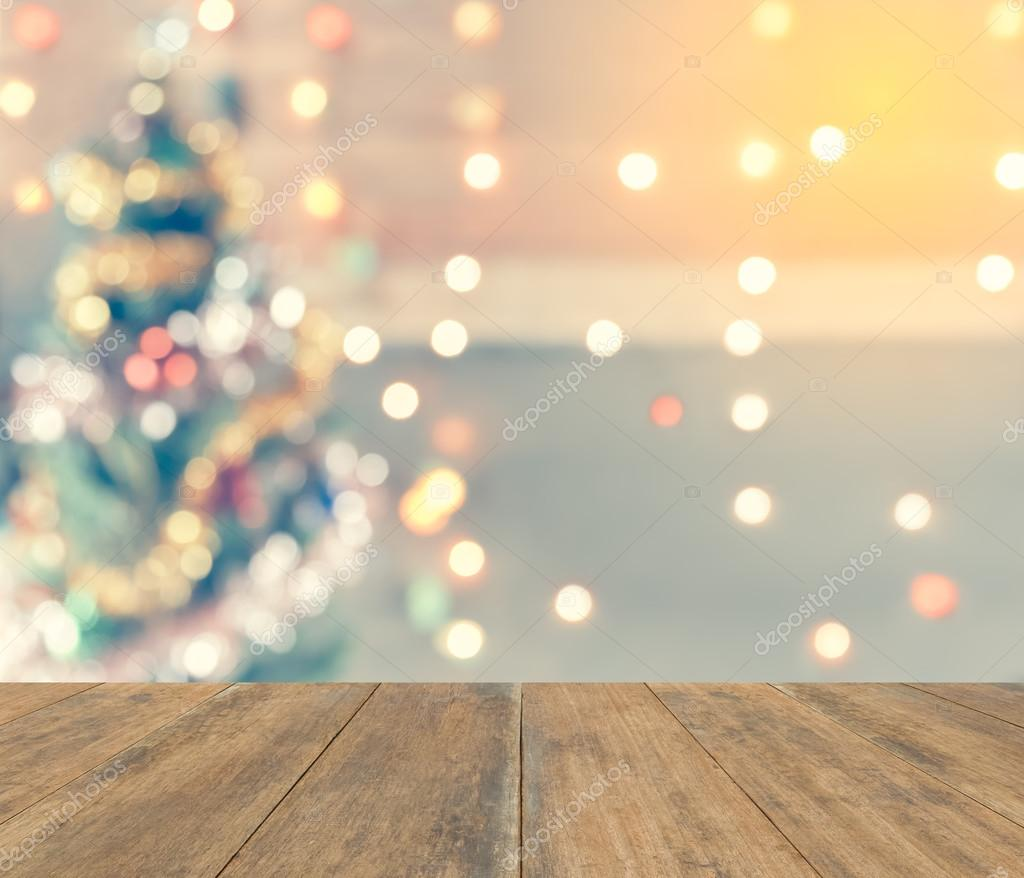 sparkle bokeh of Christmas tree, Template mock up for display of