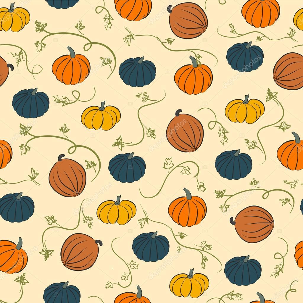 seamless pumpkin pattern background with pumpkins stock vector rh depositphotos com