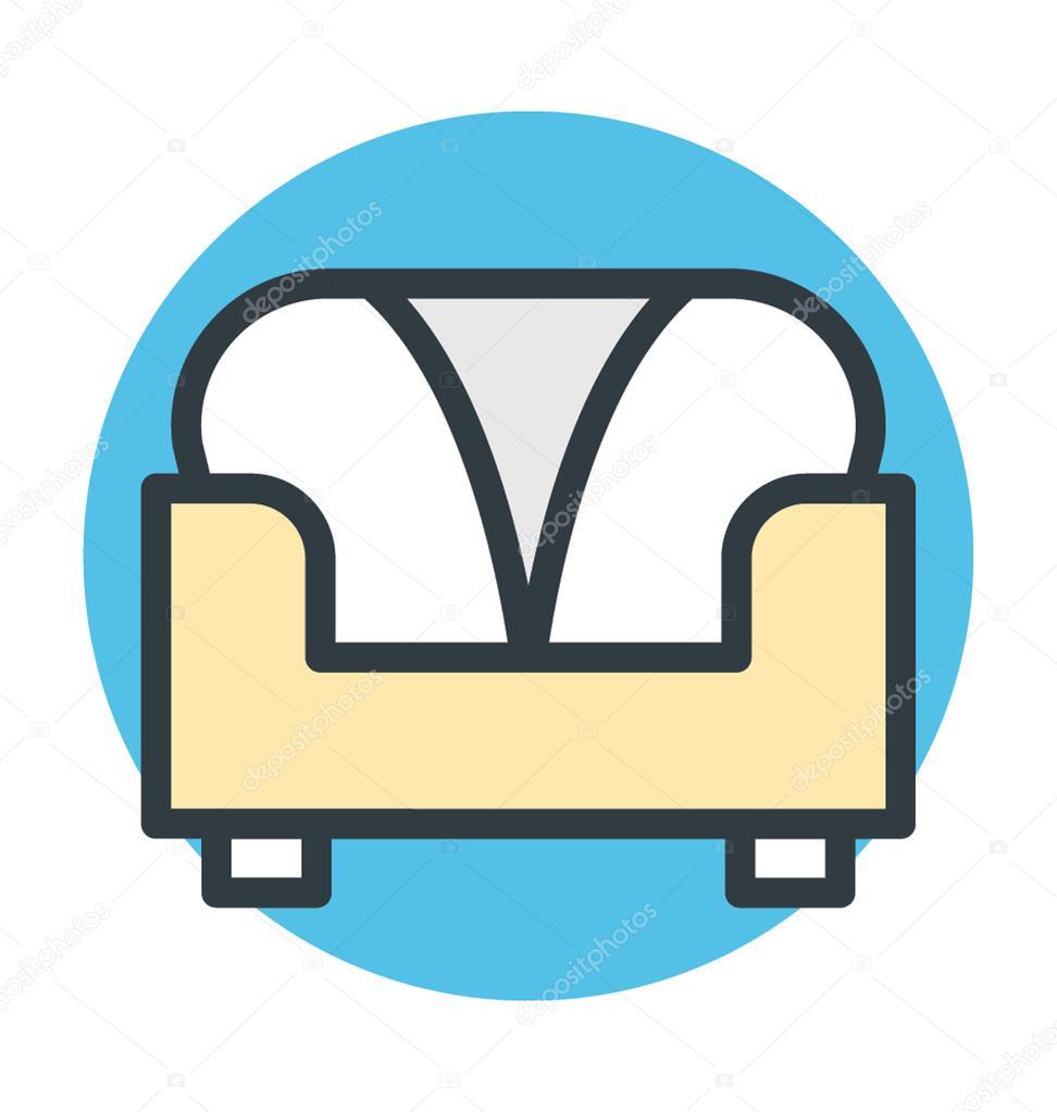 Sof De Icono De Vector De Sof Sof Muebles Sof Sof  # Muebles Y Cosas