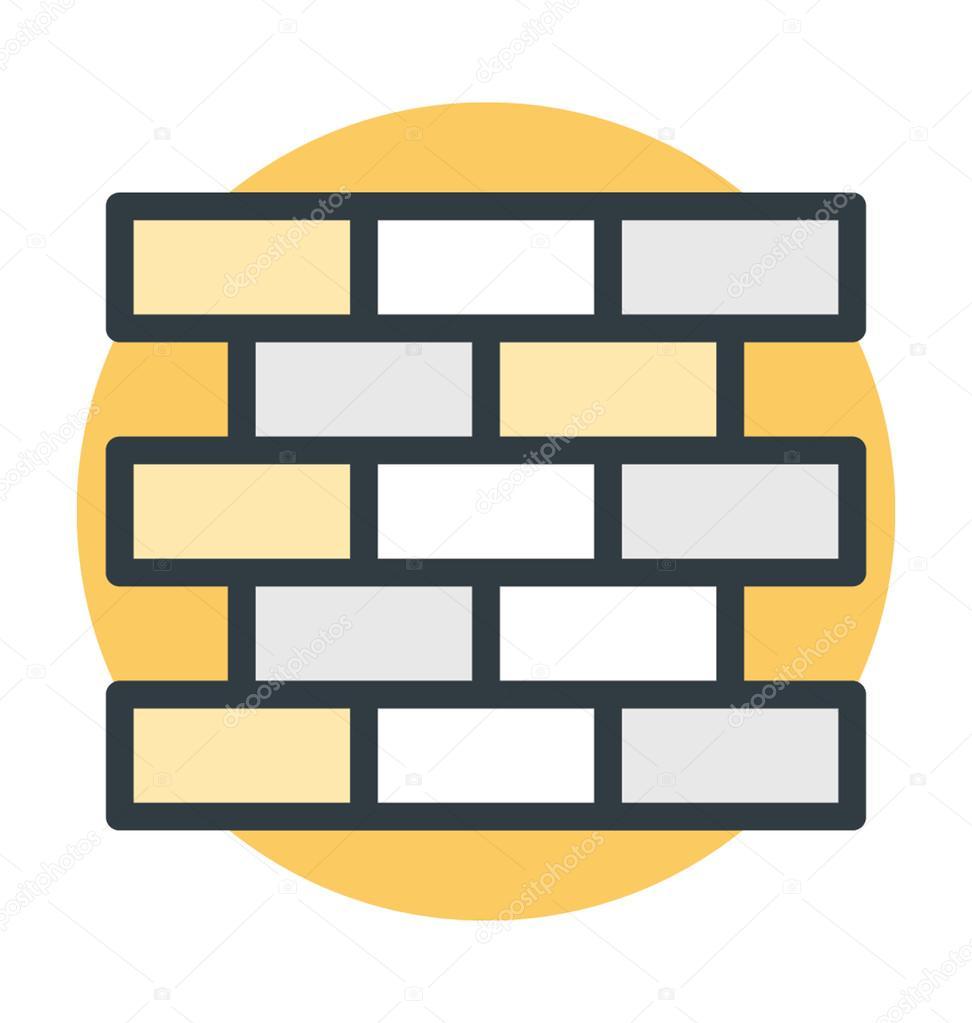 Security Wall Colored Vector Icon — Stock Vector © vectorsmarket ...