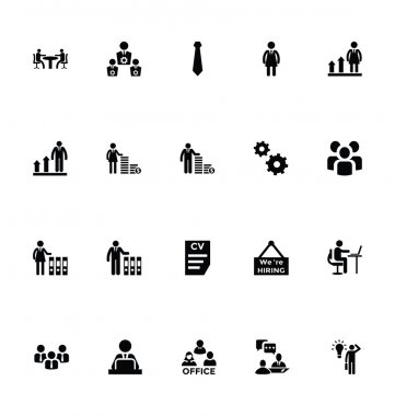 Working Human Vector Icons 5