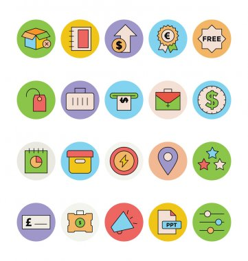 Business and Office Colored Vector Icons 9