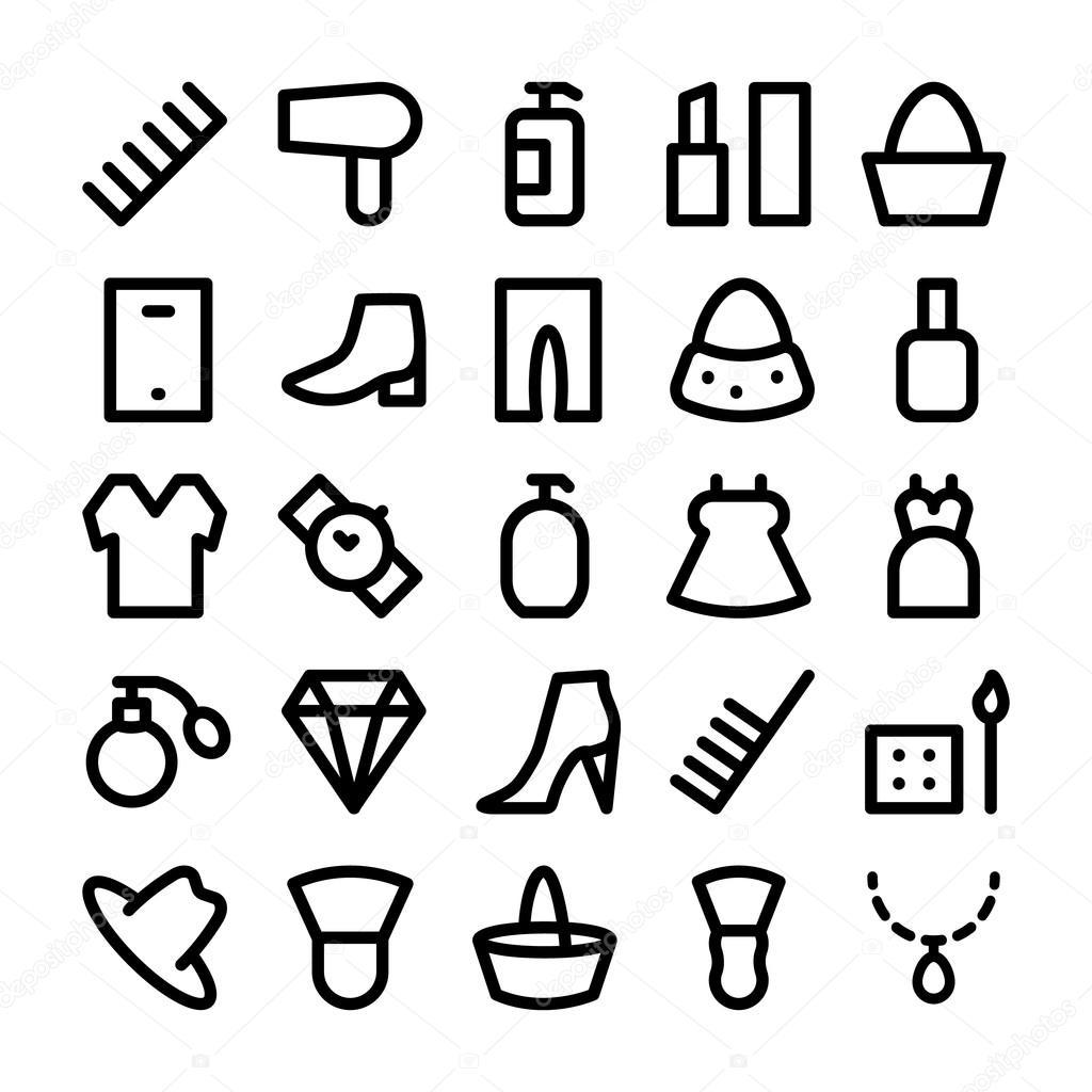 Fashion Vector Icons 4 \u2014 Stock Vector © vectorsmarket 102956548