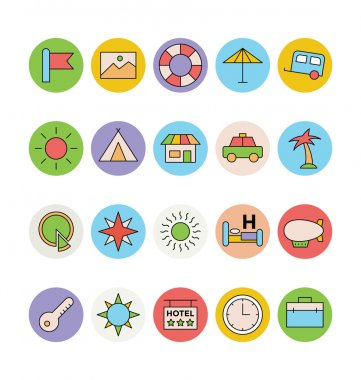 Pack your bag and get ready for holiday travelling. Pull that Travel vector icons pack into your travel, tourism, holiday related projects. Enjoy! icon