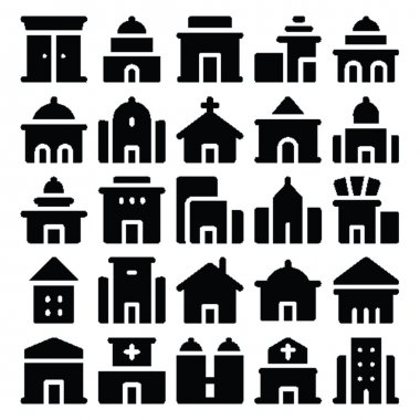 Building & Furniture Vector Icons 7.