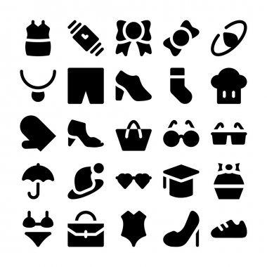 This Fashion Icon Pack is included different clothing icons, shoes, cosmetics and much more that would be perfect for a fashion blog or apparel catalogs, fashion magazines and store adverts. icon