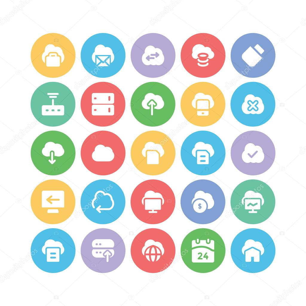 Cloud Computing Vector Icons 5