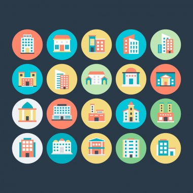 Buildings Vector Icons 5