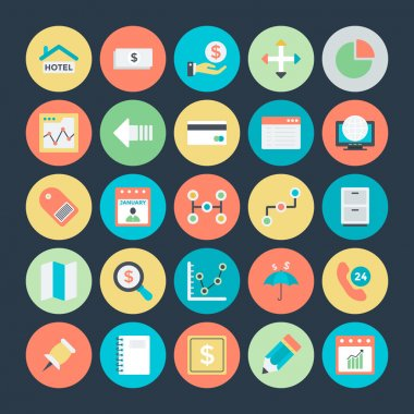 Business Colored Vector Icons 3