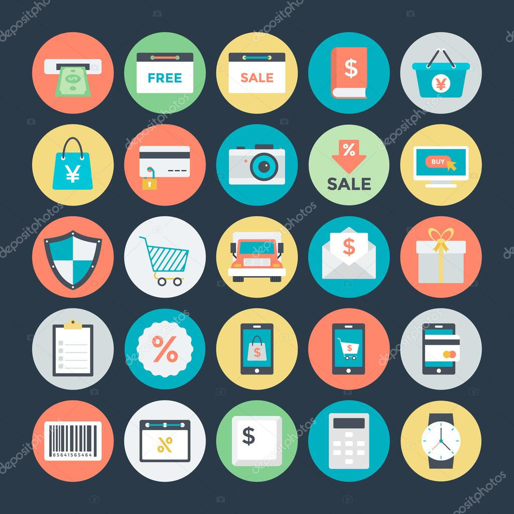 Shopping and Commerce Vector Icons 2