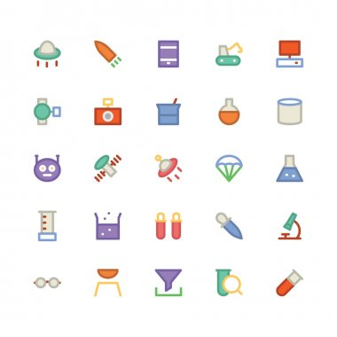 Enjoy this exclusive set of Science Vector Icons Pack. This pack contains all equipment of lab, research and related science tools, Enhance your Science project with our charming icons, clip art vector