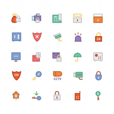 We introduce a perfect icons pack of various security objects, They are intended to be used for Security and defense, it contains entire equipment of security, defense and protection. icon