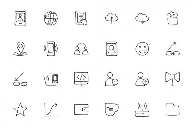 Media Hand Drawn Doodle Icons 6