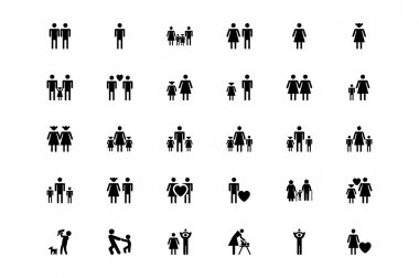 Family and Human Vector Icons 1