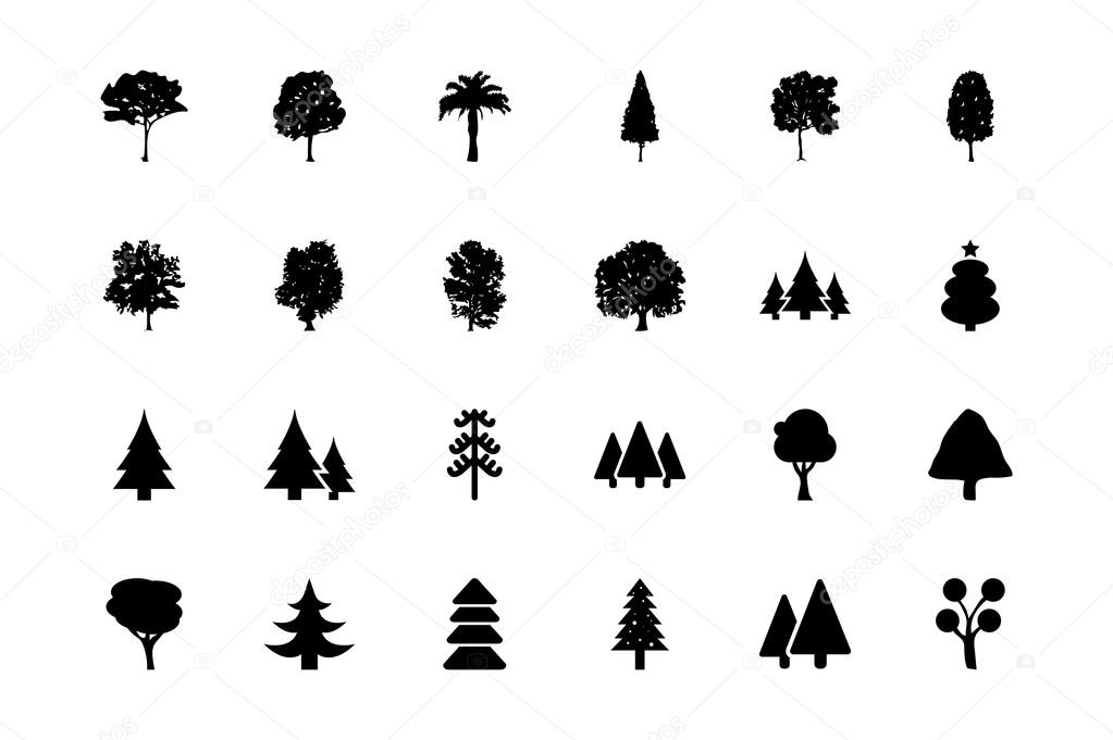 Trees Vector Icons 1