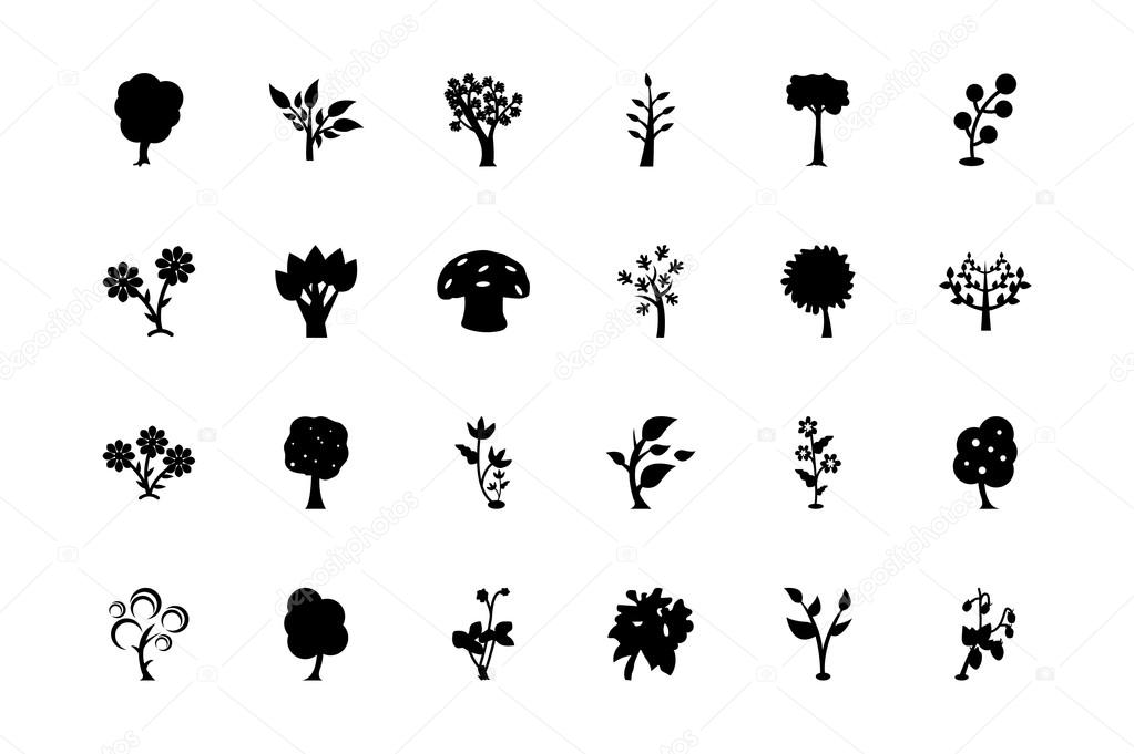 Trees Vector Icons 3