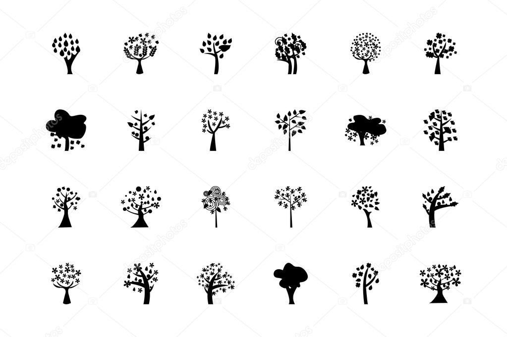 Trees Vector Icons 5