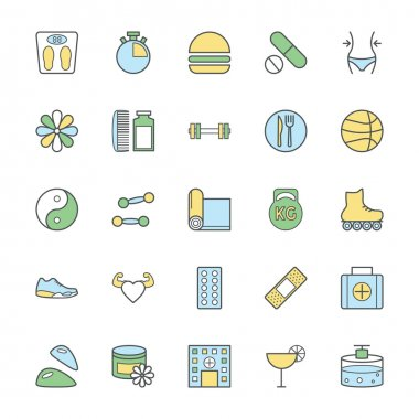 Fitness Bold Vector Icons 2