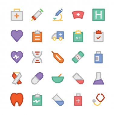 Health Colored Vector Icons 1