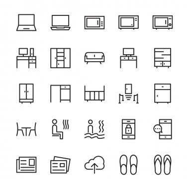 Hotel Outline Vector Icons 7