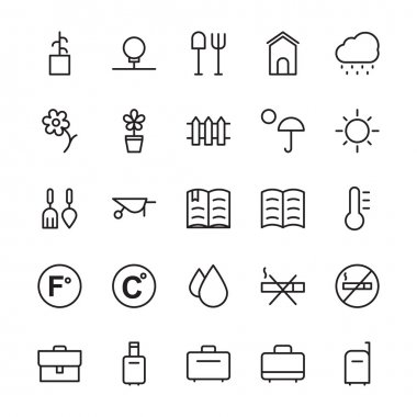 Hotel Vector Outline Icons 15