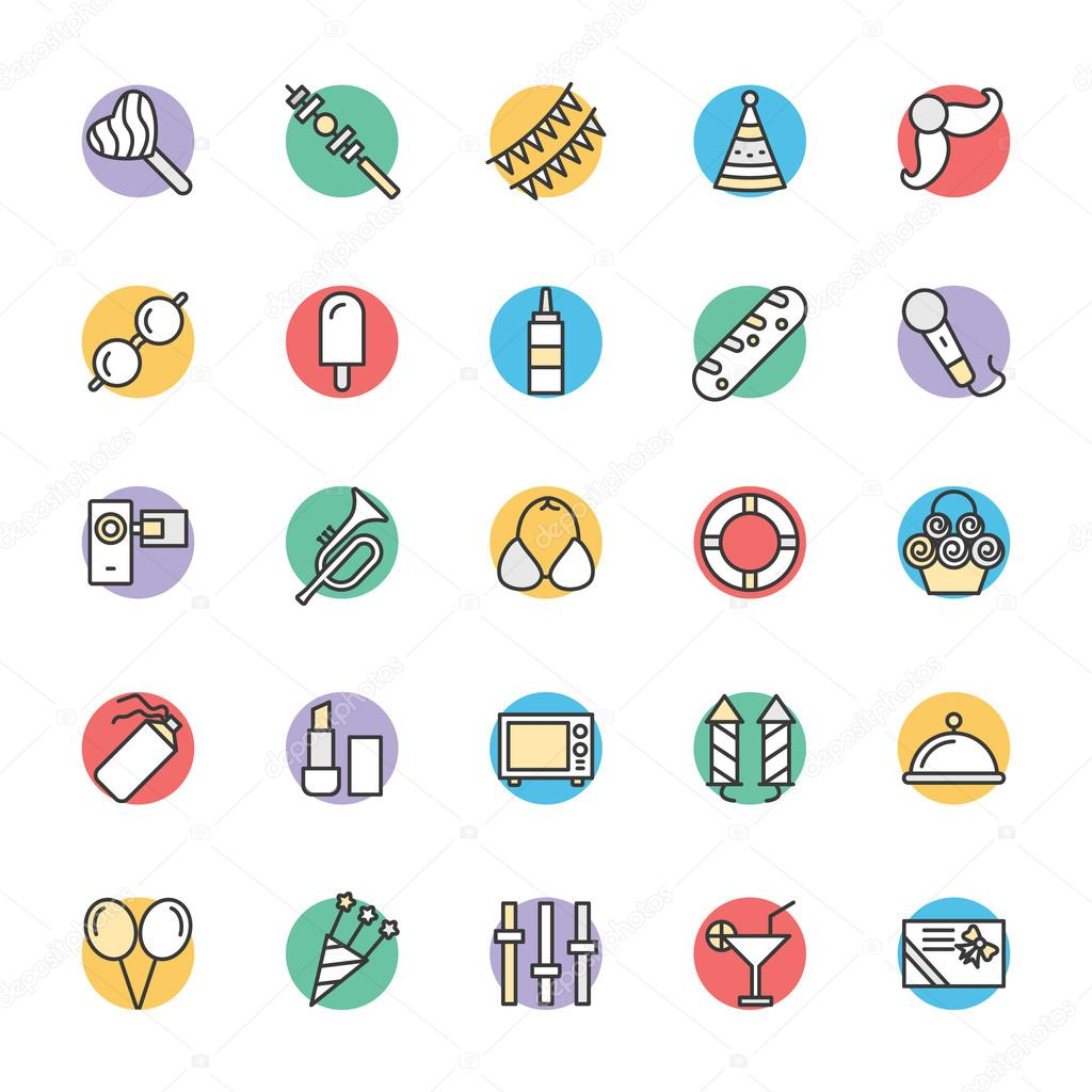 Celebration and Party Cool Vector Icons 1