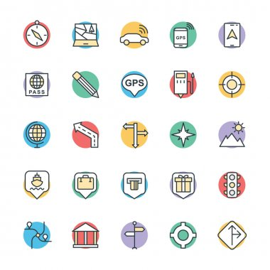 Map and Navigation Cool Vector Icons 2