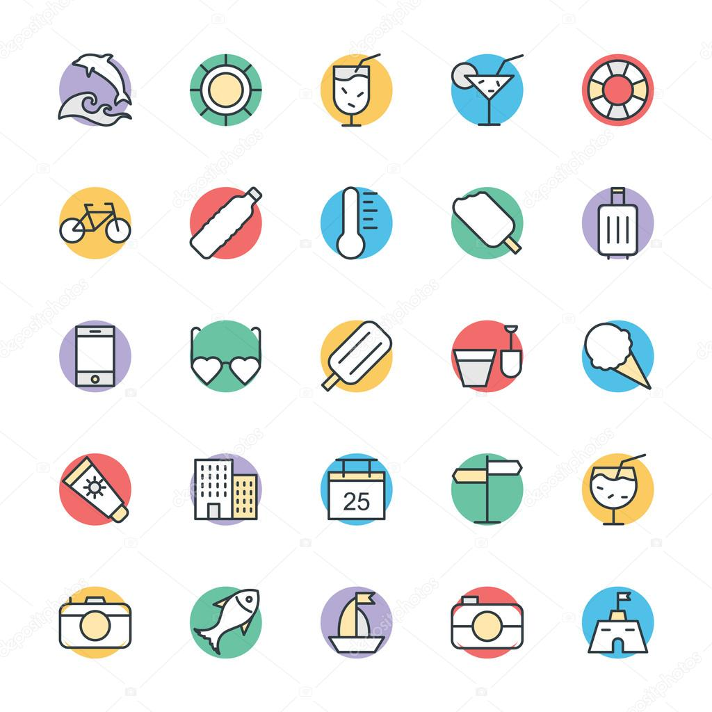 Summer Cool Vector Icons 3