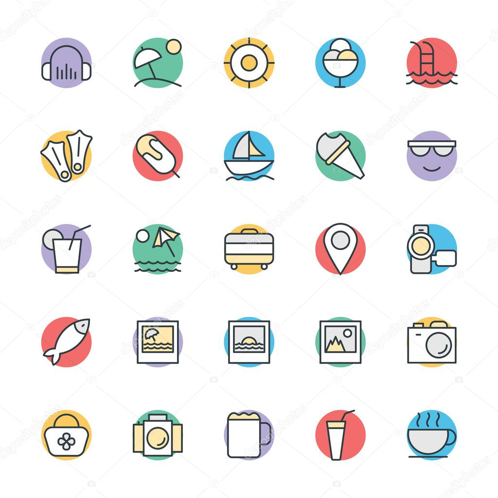 Summer Cool Vector Icons 5