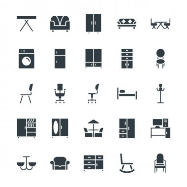Furniture Cool Vector Icons 2