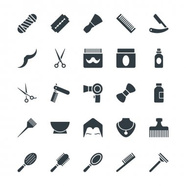 Hair Salon Cool Vector Icons 1
