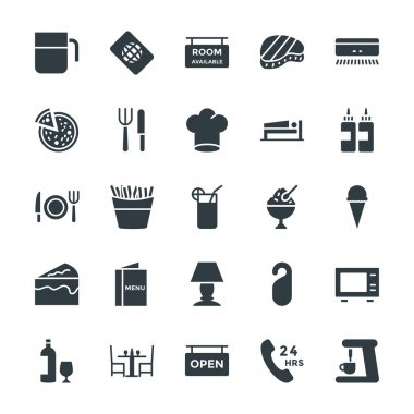 Hotel & Restaurant Cool Vector Icons 5