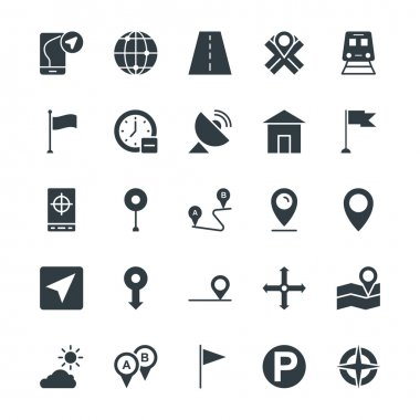 Map and Navigation Cool Vector Icons 1